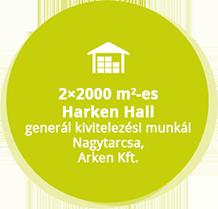 fobb referenciak modositas\Nagytarcsa, Arken Kft.-2x2000 m2-es raktárcsarnok generál kivitelezési munkái